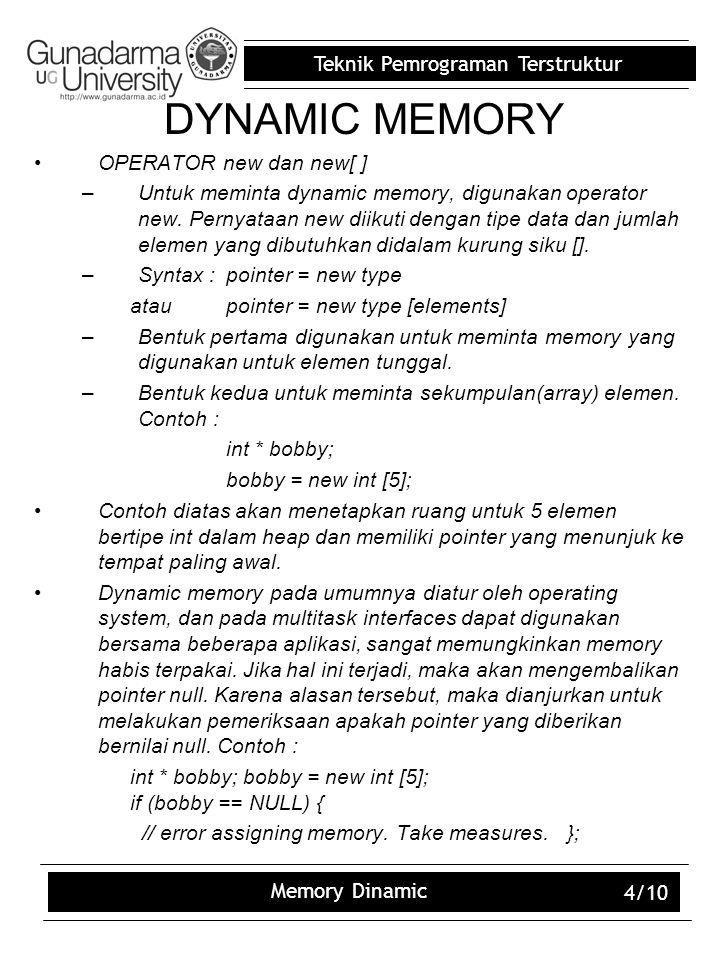 DYNAMIC MEMORY OPERATOR new dan new[ ]